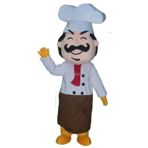 Details about  /Chef Mascot Costume Suits Cosplay Outfits Carnival Halloween Xmas Easter Adult
