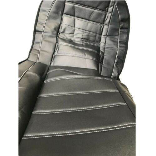 2pcs Car SUV Front Seat Cover Protector Cushion Black/&Gray PU Leather Interior