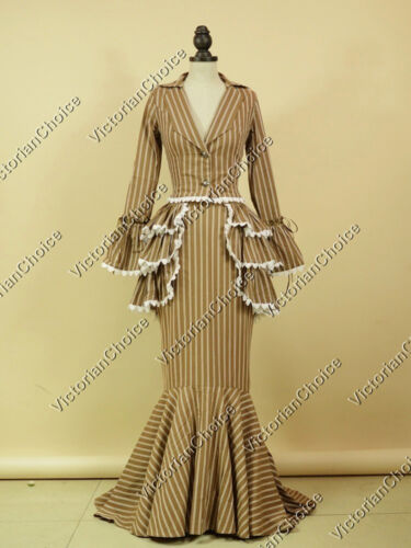 Edwardian Victorian Bustle 3PC Titanic Dress Gown Reenactment Women Costume 328 $134.85 AT vintagedancer.com