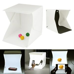 Photo-Photography-Studio-Lighting-Portable-LED-Light-Tent-Kit-Box-Folding-9inch