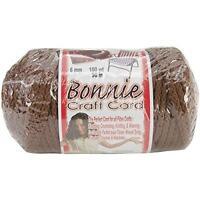 NEW ALMOND Bonnie Macrame Craft Cord 6mm 100yd Pepperell NOM151602 725879670085 Craft Supplies