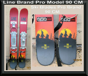 Snow-Skis-Ski-Blades-Line-Model-Pro-w-Bomber-Bindings-90-CM-RARE-in-San-Diego