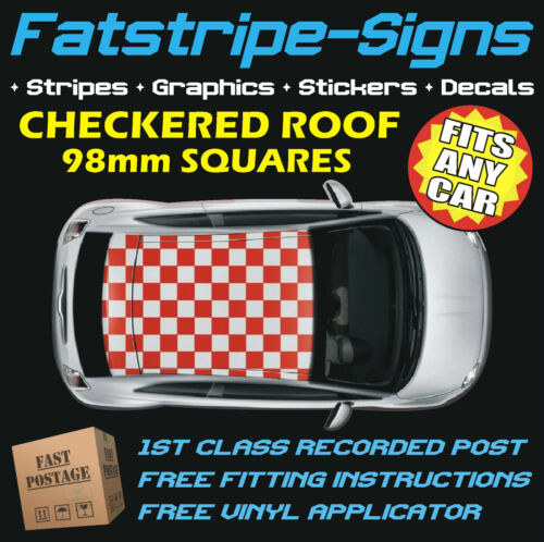 CITROEN C2 CHECKER ROOF CAR GRAPHICS STRIPES DECALS STICKERS 1.2 1.4 1.6 1.8 2.0