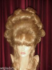 SIN CITY WIGS GOLDEN BLONDE UP DO PERFECT SET CURLS BIG HAIR BANGS GLAMOROUS