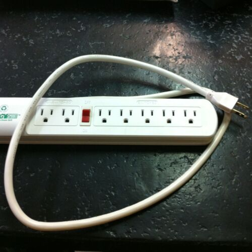 7 outlet 2-unswitched 5-on//off circuit reset NEW Heavy Duty Surge Protector