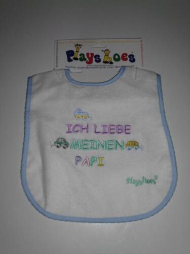 Klett Lätzchen waschbar Baby Kinderlätzchen ICH LIEBE MAMI .. PAPI Playshoes