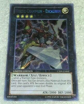 Secret rare Yugioh!! Near Mint! heroica Champion-Excalibur ct09-en002