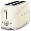 SMEG TSF02CREU 2-Schlitz-Toaster, Designlinie Stil Der 50° Jahre, Creme  ENgcw