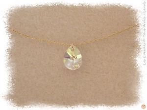 Détails Tailles Au Or Collier En Larme Cristal Sur Choix Swarovski Plaqué Chaine PwkZn0ON8X