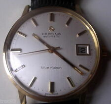 MONTRE CERTINA BLUE RIBBAN AUTOMATIC OR 18K VERS 1950