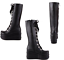 Womens-Punk-Platform-Wedge-High-Heel-Mid-Calf-Goth-Lace-Up-Boots-Round-Toe-Shoes thumbnail 5