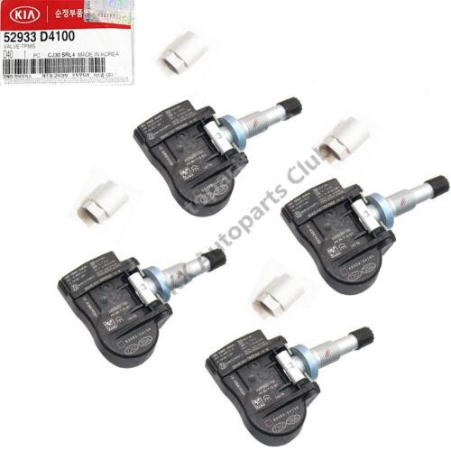 Set of 4 OEM TPMS RDKS VDO Tire Pressure Sensor for Hyundai KIA pn:52933-D4100