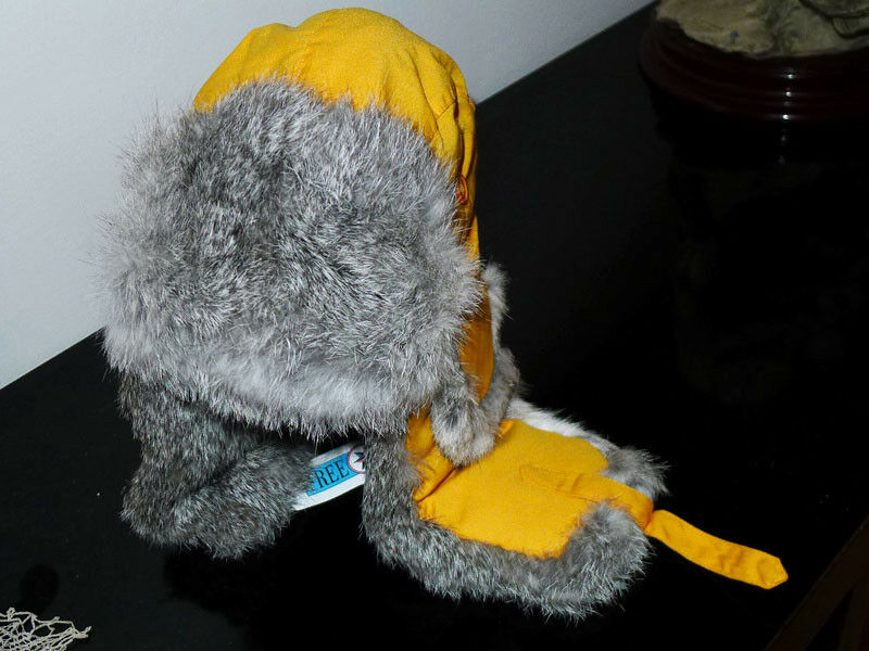 New hat cap in real rabbit fur size 56cm for snow ski skis skiing snowboard