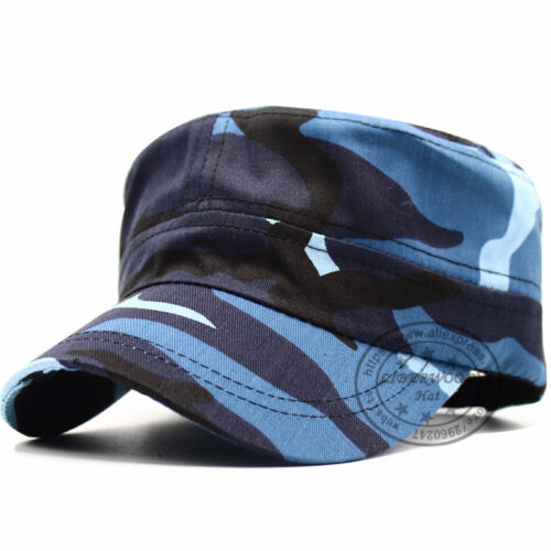 HOT SELL Army Cadet Patrol Castro Camo Cap Casquette Blue Camouflage Hats Man /'s