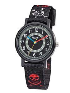 Regent-Reloj-De-Ninos-f-950-Analogo-Textil-Rojo-negro
