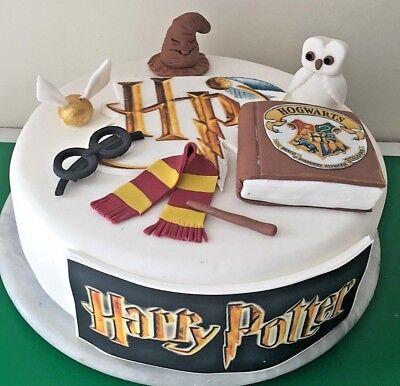 Cool Harry Potter Edible Cake Decoration Cake Topper Birthdays Ebay Funny Birthday Cards Online Alyptdamsfinfo