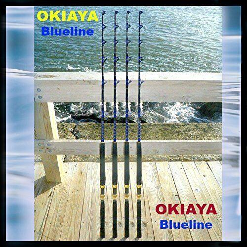 Saltwater Cañas de pesCoche 30-50LB Pesca Polo  azulLINE  para Penn Shimano (4 Pack)