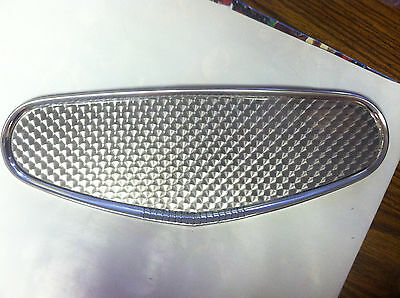 Stewart Warner Style Stainless Gauge Dash Panel W/ Engine Turned Insert /Hot Rod