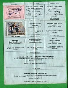 North dakota 1990 resident fish hunt furbearer certificate for Buy tennessee fishing license