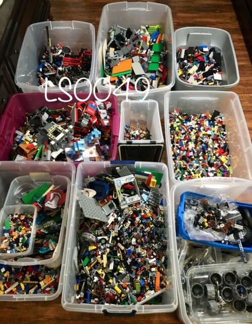 2 pounds LBS of Bulk Legos Cleaned Sanitized Bricks /& other assorted pieces Lot
