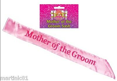 HEN NIGHT PINK SASH BRIDE ACCESSORIES PARTY SASHES GIRLS NIGHT OUT WEDDING MAID