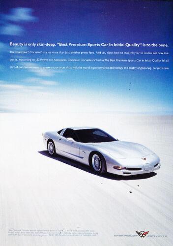 Vintage Advertisement Ad A37-B 2002 Chevrolet Corvette quality index