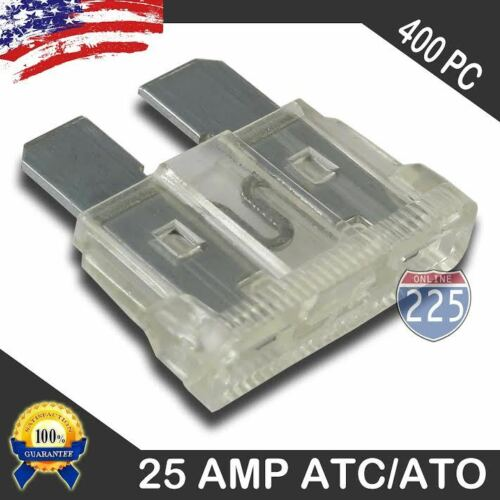400 Pack 25 AMP ATC//ATO STANDARD Regular FUSE BLADE 25A CAR TRUCK BOAT MARINE RV