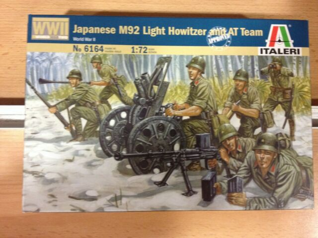ITALERI Nº6164,JAPANESE M92 LIGHT HOWITZER AND AT TEAM,ESCALA 1/72