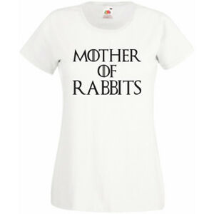 05ad7c6d Mother Of Rabbits T-Shirt Tee Womens Unisex Gift Present Animal Pets ...