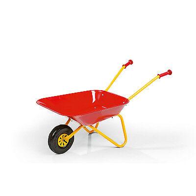 New Rolly Toys Kid's Metal Wheel Barrow / Children's Red Metal Wheelbarrow