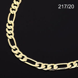 53a2e5da602d7 Details about Men's 14K Yellow Gold Plated 20 Inches Figaro Chain Necklace  7.5 mm (217 / 20)