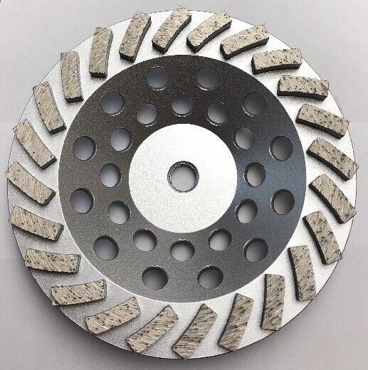 "Pearl 7"" Diamond Grinding Cup Wheel 24 Seg Turbo 5/8""-11 Concrete and Masonry"