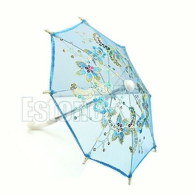 1pc 15cm Craft Embroidered Umbrella Art Decorate For Wedding Dance Props Party