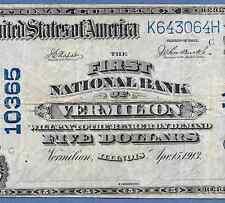 IL  1902 $5  ♚♚VERMILION,ILLINOIS♚♚   VERY HARD TO FIND