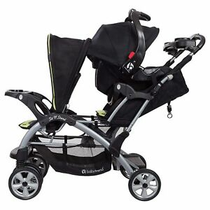 Baby Trend Sit N Stand Double Stroller Optic Green For Sale