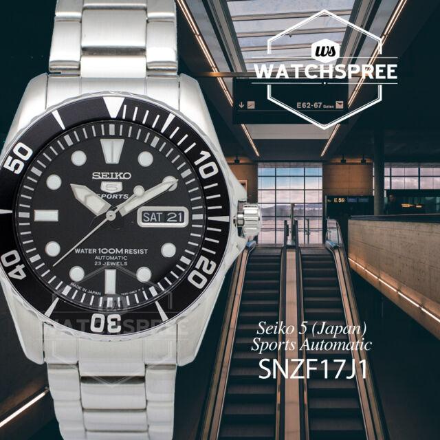Seiko 5 (Japan) Sports Automatic Watch SNZF17J1 AU FAST & FREE