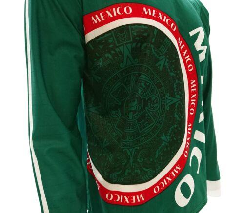 Mexico Calendario Azteca Arza Soccer Jersey Green Long Sleeve