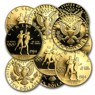 $10 Gold US Mint Commemorative Coin - Random Year and Design - SKU #9580