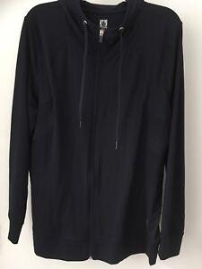 Anne Klein Sport Navy Zip Up Hoodie Sweatshirt Size 2x NWT