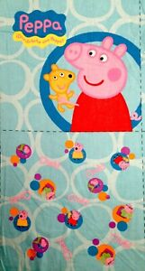 Cotton Blend Peppa Pig George Pig Family Characters BLUE FABRIC