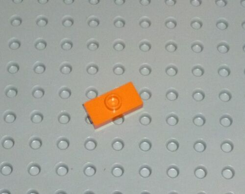 3794a PLATE LEGO PM88  ORANGE x 5 Modified 1 x 2 with Stud no groove
