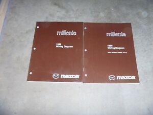 1999 mazda wiring diagram 1999 mazda millenia electrical wiring diagram manual ebay  1999 mazda millenia electrical wiring
