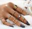12pcs-Silver-Boho-Women-Stack-Plain-Above-Knuckle-Ring-Midi-Finger-Tip-Rings-Set thumbnail 11