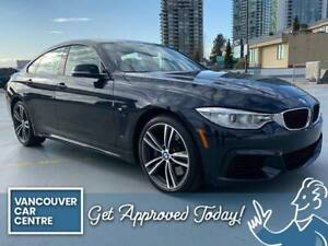 2015 BMW Série 4 435i Gran Coupe $269B/W w/M Performance Pack, M Technology Pack, Heads Up Display DRIVE HOME TODAY! QUICK AND EASY FINANCING!