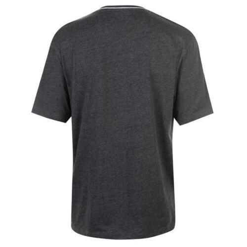 ✅ Slazenger Mens Tshirt V Neck Sports Gym Summer Casual Dark Grey