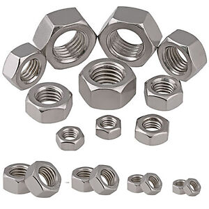 M2 HEXAGON FULL NUTS PACK OF 50 METRIC A2 STAINLESS STEEL FIT METRIC BOLT,SCREW