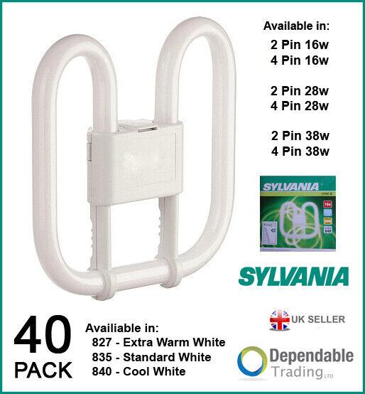 40 X Sylvania Lynx-Q 2D Fluorescente Ahorro de Energía Bombillas 16w 28w 185-2 4