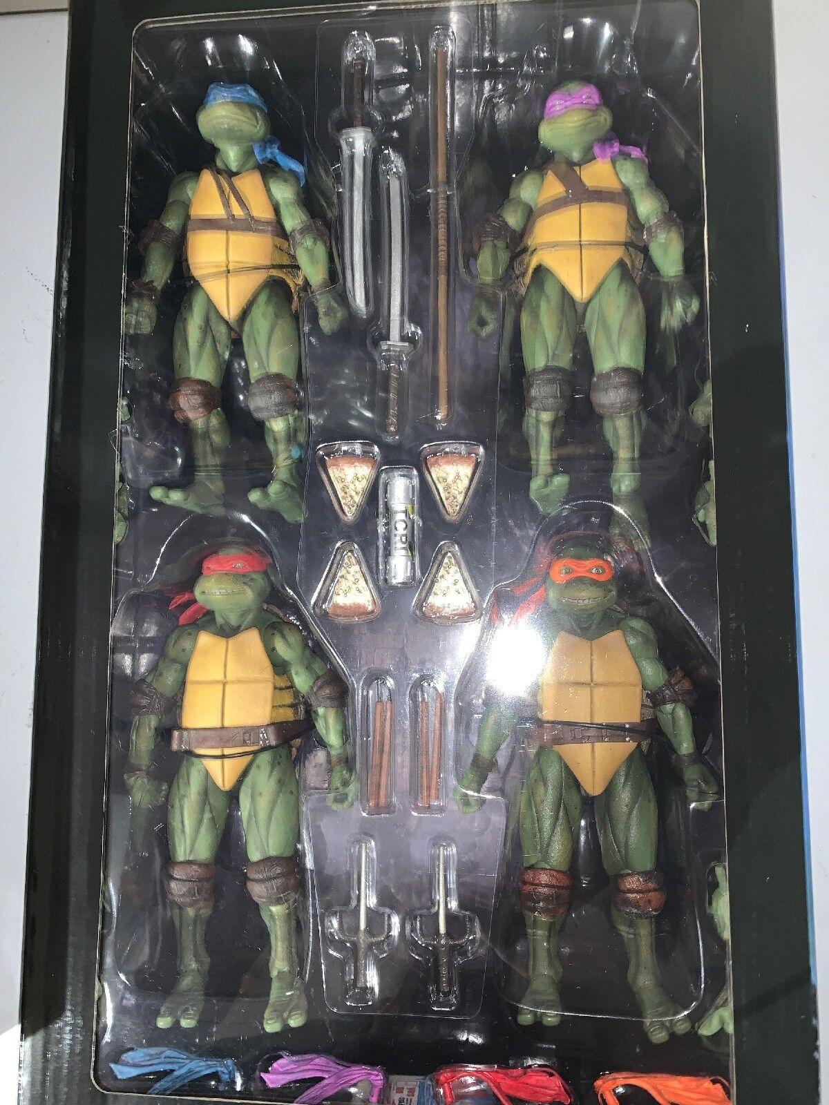 NECA Teenage Mutant Ninja Ninja Ninja Turtles The Movie 2018 SDCC Action Figure Set Exclusiv d5ae08
