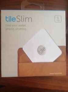 Brand New Tile Slim 1 Pack Bluetooth Gps Tracker Locator