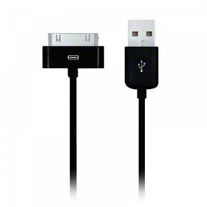 black usb data sync charger cable wire lead iphone 3g. Black Bedroom Furniture Sets. Home Design Ideas